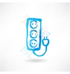 Socket grunge icon vector
