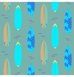 Surfboard seamless pattern Blue and cyan vector