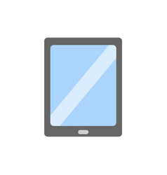 tablet icon in flat style isolated vector image