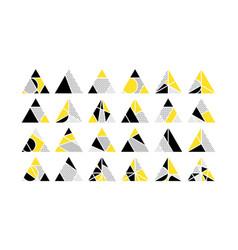 triangle design elements set vector image