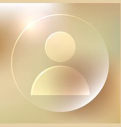User glassy icon user glassy icon vector