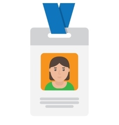 User id card with female photo vector