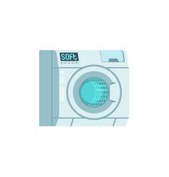 washing machine icon isolated on yellow background vector image
