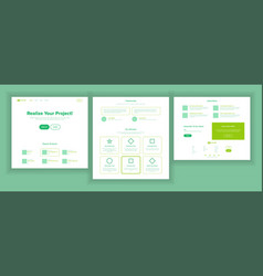 Web page design website business reality vector