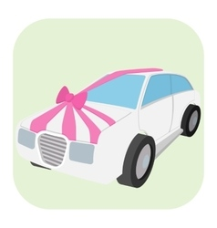 Wedding car cartoon icon vector