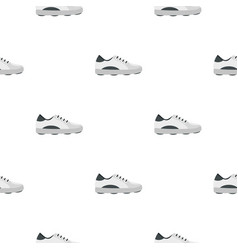 White golf shoe pattern seamless vector