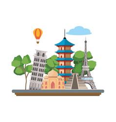 World landmarks icon vector