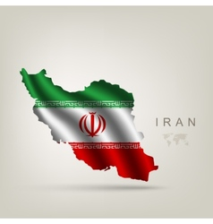 Flag of Iran as a country vector image vector image