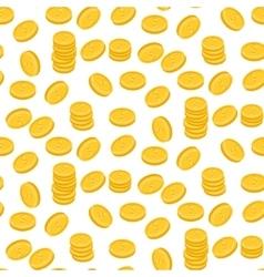 Gold dollar coin falling seamless pattern vector