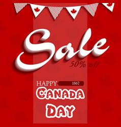 happy canada day5 vector image