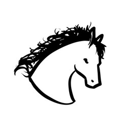 horse animal silhouette vector image