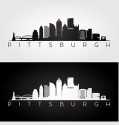 pittsburgh usa skyline and landmarks silhouette vector image vector image