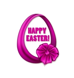 Easter egg with ribbons bow vector image vector image