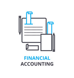 financial accounting concept outline icon vector image vector image