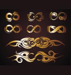 infinity symbols set vector image vector image