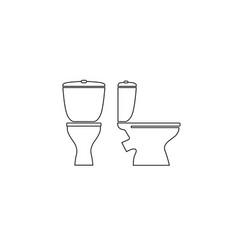 toilet room furniture sign set bathroom interior vector image