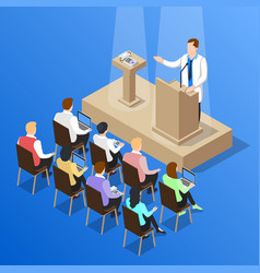 doctors conference talk composition vector image vector image