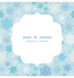 falling snow circle frame seamless pattern vector image vector image