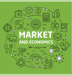 lines background market and economics vector image