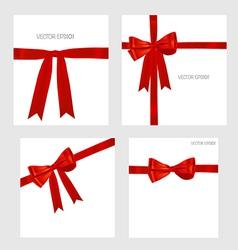 Shiny red ribbons vector image vector image