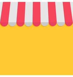 Striped store awning for shop marketplace cafe and vector image