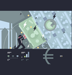 collapse and fall of bank vector image vector image