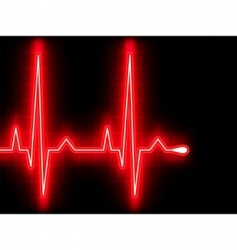 heart beat EKG vector image vector image