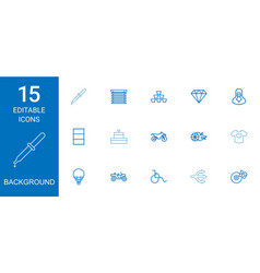 15 background icons vector