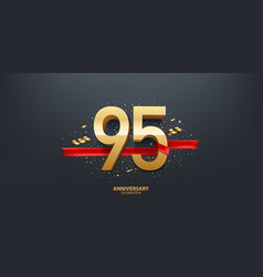 95th year anniversary background vector
