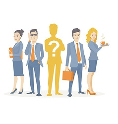 a business team standing together in the vector image