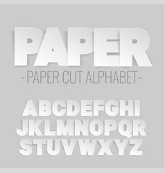 alphabet letters cut out of paper vector image