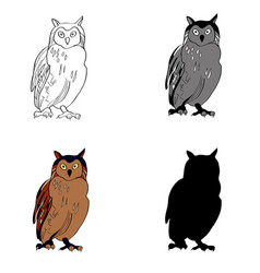 an image of a sitting owl vector image