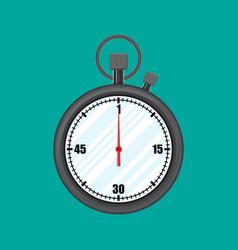 Analog chronometer timer counter stopwatch vector