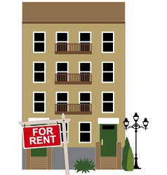 Apartment for rent vector image