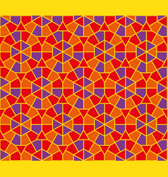 arabic round colorful ornament seamless pattern vector image