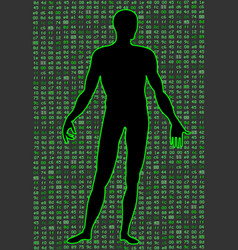 Artificial intelligence silhouette of a man body vector