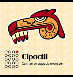 Aztec symbol Cipactli vector image