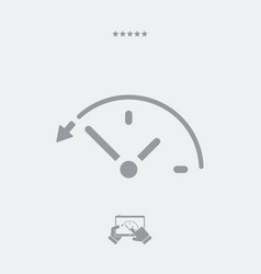 back in time button - web icon vector image