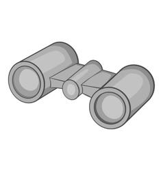 Binoculars icon gray monochrome style vector image