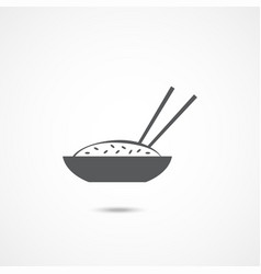 bowl of rice icon vector image