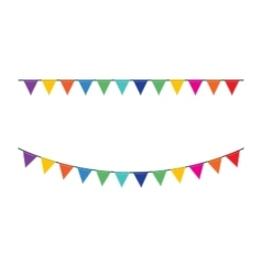 Bunting festive flags vector image