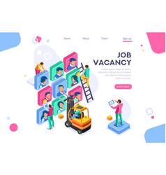 Business vacancy social contract vector