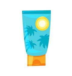 cartoon style of sunblock tube vector image