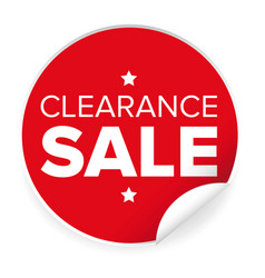 clearance sale label red sticker vector image