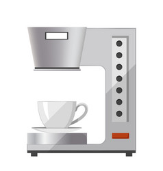 Coffee machine with cap icon vector