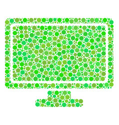 Computer display composition of dots vector