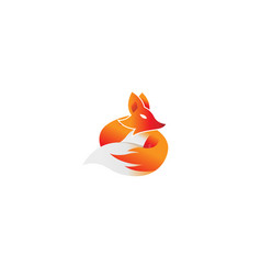 creative fox logo vector image