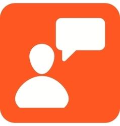 Customer talking vector