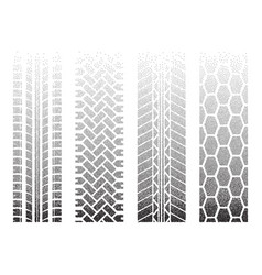 Dotted tire tracks 2 vector