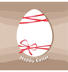 Easter egg happy easter card vector image